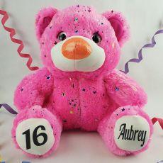 16th Birthday Teddy Bear 40cm Hollywood Pink