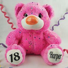 18th Birthday Teddy Bear 40cm Hollywood Pink