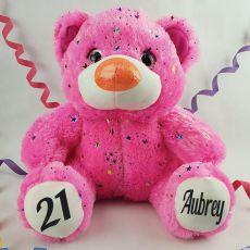 21st Birthday Teddy Bear 40cm Hollywood Pink