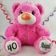 40th Birthday Teddy Bear 40cm Hollywood Pink