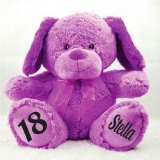 18th Birthday Bear 40cm Sam the Purple Dog