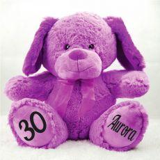 30th Birthday Bear 40cm Sam the Purple Dog