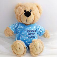 Baby Boy Teddy in Personalised Pyjamas