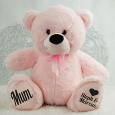 Love Mum Personalised Teddy Bear 40cm Plush Pink