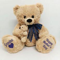 Grandma Mothers Day Teddy Bear Plush - Blue