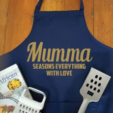 Mum Personalised  Apron with Pocket - Navy