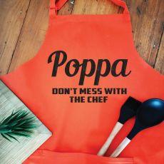 Pop Personalised  Apron with Pocket - Orange