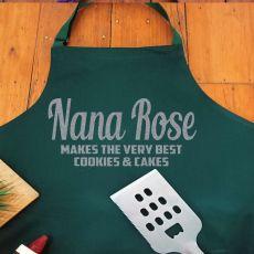 Nana Personalised  Apron with Pocket - Pea Green