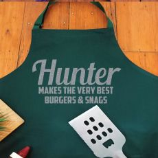 Volunteer Personalised  Apron with Pocket - Pea Green