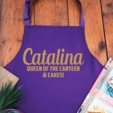 Volunteer Personalised  Apron with Pocket - Purple