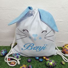 Easter Bunny Basket PJ Bag - Blue