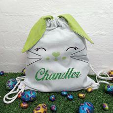 Easter  Bunny Basket PJ Bag - Green