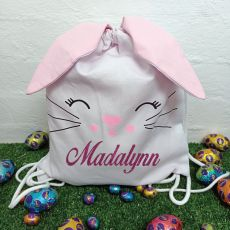 Easter  Bunny Basket PJ Bag - Pink