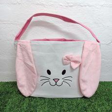 Easter Bunny Basket Tote Bag - Pink