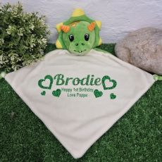 Personalised Baby Security Comforter Blanket Dragon