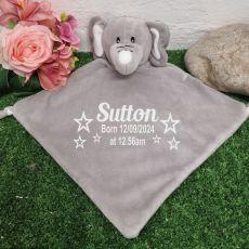 Personalised Baby Security Comforter Blanket Elephant