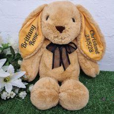 Personalised Christening Rabbit Plush 40cm Caramel