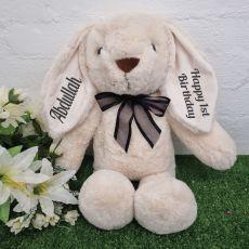 Personalised 1st Birthday Rabbit Plush 40cm Cream