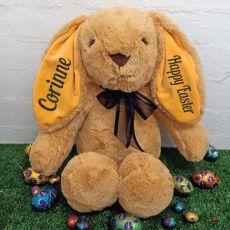 Easter Rabbit Bunny Plush Black Bow - 40cm Caramel