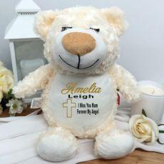 Personalised Memorial Guardian Angel Cubbie Bear Plush
