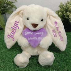 Personalised 1st Easter Bunny Plush Cinnamon