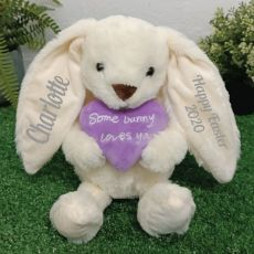 Personalised Easter Bunny Plush Cinnamon