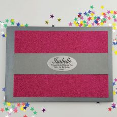 1st Birthday Personalised  Glitter Guest Book- Pink
