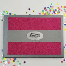 30th Birthday Personalised  Glitter Guest Book- Pink