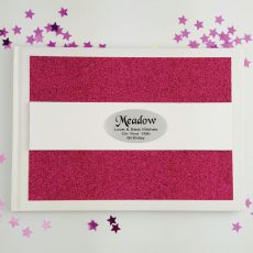 Personalised 18th Birthday Guest Book- Pink Glitter
