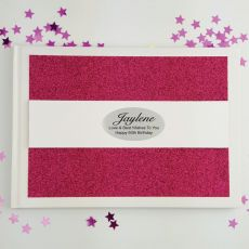 Personalised 60th Birthday Guest Book- Pink Glitter