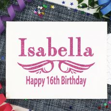 Personalised 16th Birthday Guest Book Album - White A4