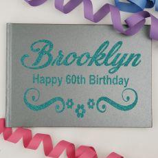 60th Birthday Guest Book Album - A4 Grey