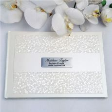 Graduation Guest Book Keepsake Album- Cream Pebble