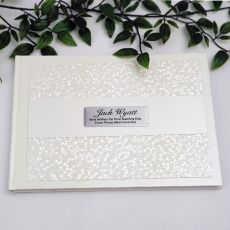 Naming Day Guest Book Keepsake  Album -Cream Pebble