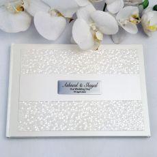 Wedding Guest Book Keepsake Album- Cream Pebble