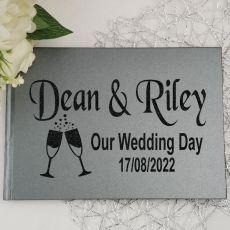 Wedding Guest Book Keepsake Album - Grey A4