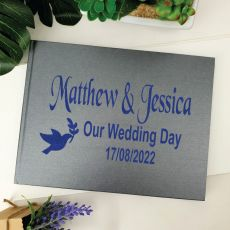 Wedding Guest Book Keepsake Album - Grey A5