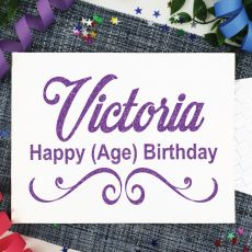 Personalised Birthday Guest Book Keepsake Album - A5 White