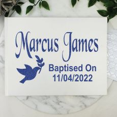 Baptism Guest Book Keepsake Album - White A4