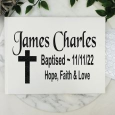 Baptism Guest Book Keepsake Album - White A5