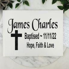 Baptism Guest Book Keepsake Album - White A5