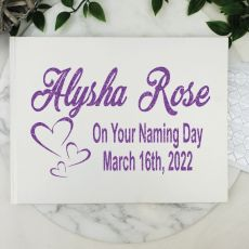 Naming Guest Book Keepsake Album - White A5