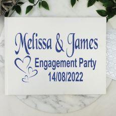 Engagement Guest Book Keepsake Album - White A4