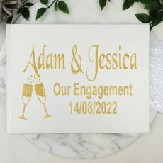 Engagement Guest Book Keepsake Album - White A5