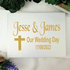 Wedding Guest Book Keepsake Album - White A4