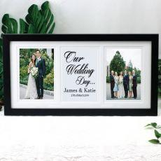 Wedding Gallery Photo Frame 4x6 Typography Print Black