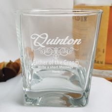 Father Of The Groom Engraved Personalised Scotch Spirit Glass