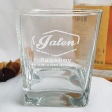 Page Boy Engraved Glass Tumbler 275ml Glass