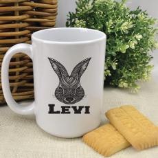 Personalised Easter Coffee Mug - Aztec Bunny