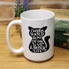 Cat Life Personalised 15oz Coffee Mug